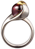 """The Ring of Love"", 925 sterlinng silver, bicolor"