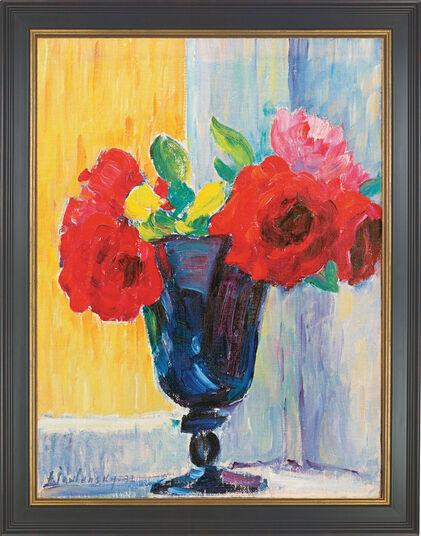 """Alexej von Jawlensky: Bild """"Rose in blauer Vase"""", gerahmt"""