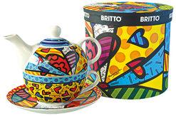 """Teekanne mit integrierter Tasse """"A New Day"""", Porzellan"""