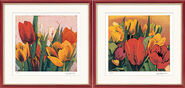 "2 Pictures ""Sring Tulips"" + ""Tulip Blossom"" in Set"