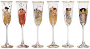 Six-piece set of champagne glasses
