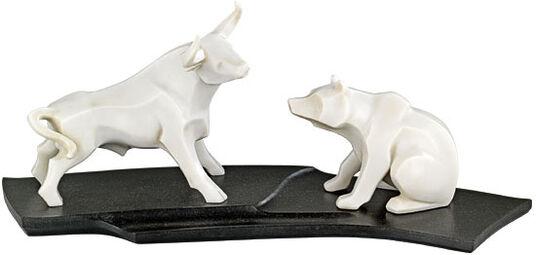 J Rgen G Tze Sculptures Bull And Bear Stone Edition