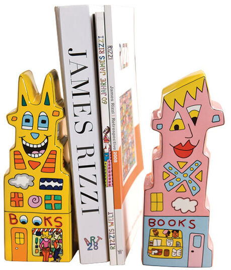 James Rizzi: Set of 2 Bookends