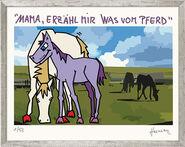 """Bild """"Mama, erzähl mir was vom Pferd"""" (2012), gerahmt"""