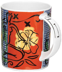 "Coffee Mug ""Mustique Flowers"", Porcelain"