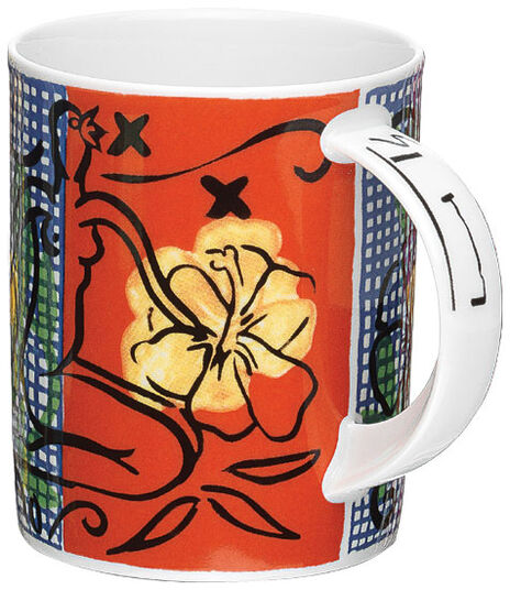 """Stefan Szczesny: Kaffeebecher """"Mustique Flowers"""", Porzellan"""