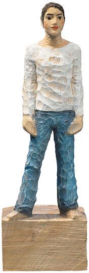 "Michael Pickl: Sculpture ""Man"", polymer cast, hand-painted"
