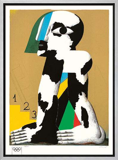 "Horst Antes: Picture ""Black-white-spotted figure"" (1970)"