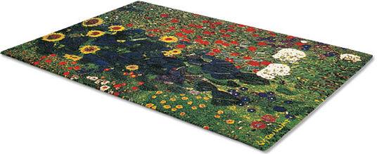 """Gustav Klimt: Artistic carpet """"Flower Garden"""" (80 x 120 cm)"""