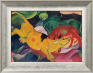 """Picture """"Cows yellow-red-green"""", 1912"""