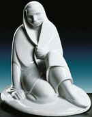 "Sculpture ""Sitting girl"", porcelain"