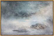 """Bild """"Blue shades of dawn"""" (2010), gerahmt"""