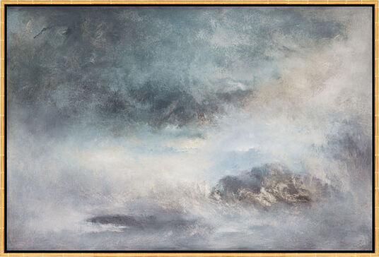 "Susann Ohlendorf: Bild ""Blue shades of dawn"" (2010), gerahmt"