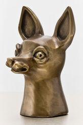 """Skulptur """"Allegorie der Wachsamkeit"""" (2007), Bronze"""