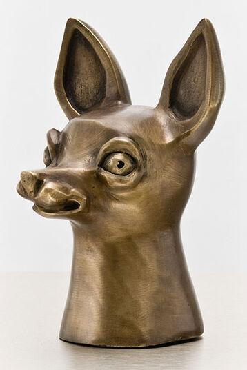 """Gerhard Hofmann: Skulptur """"Allegorie der Wachsamkeit"""" (2007), Bronze"""
