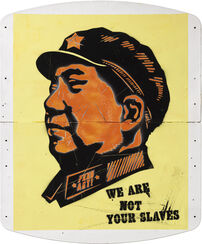 "Bild ""Mao - We are not your slaves"" (Unikat)"