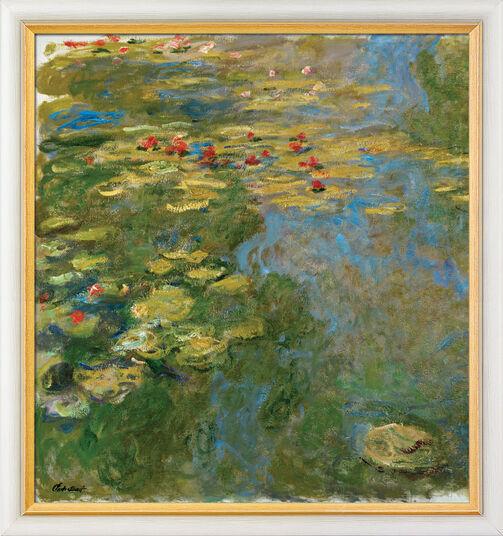"""Claude Monet: Bild """"Le Bassin aux Nymphéas, Partie Gauche - Der Seerosenteich, linker Teil"""" (1917-19), gerahmt"""
