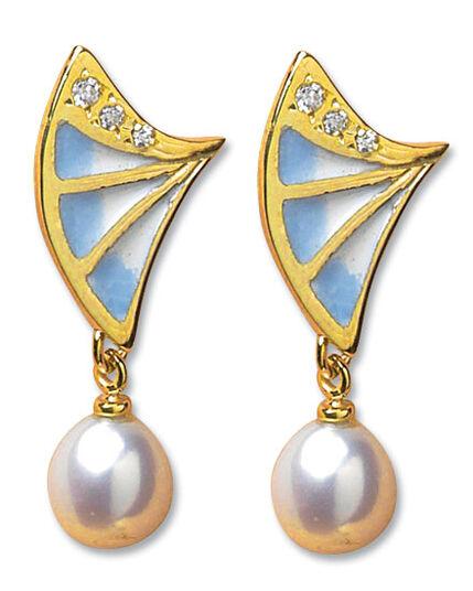 """Georg & Hans J. Müller: Pierced Earrings """"Art Deco"""""""