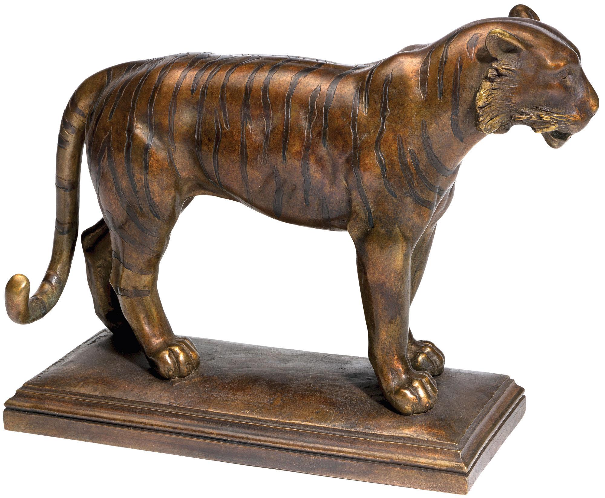 andreas artur hoferick skulptur tiger version in. Black Bedroom Furniture Sets. Home Design Ideas