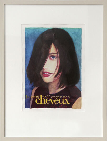 "James Francis Gill: Bild ""Cheveux"" (1999) (Unikat)"