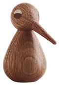 """Holzfigur """"Vogel dunkelbraun"""" (groß, Höhe 12 cm)"""