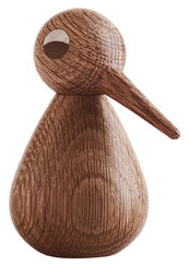 "Wood Sculpture ""Bird Dark Brown"" (Big, Height 12 cm)"