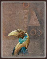 "Bild ""Rhyticeros plicatus 7/VIII Papua-Hornvogel"" (2014) (Unikat)"