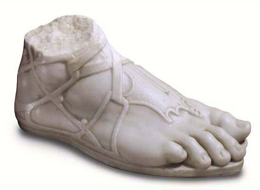 The foot of Hermes