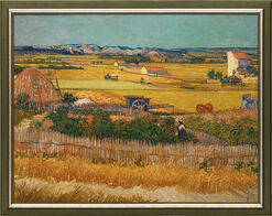 """Bild """"Die Ebene La Crau' bei Arles"""" (1888), gerahmt"""