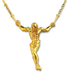"""Christo de San Juan de la Cruz"", gold-plated"