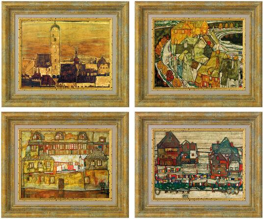 Egon Schiele: 4 Bilder im Set