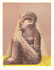 """Bild """"Sitzende Figur mit Schleier"""" (1979)"""