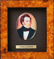 """Miniatur-Porzellanbild """"Franz Schubert"""" (1797-1828), gerahmt"""
