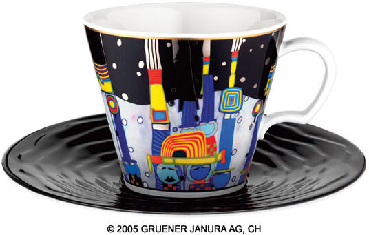 "Friedensreich Hundertwasser: Universal Mug after 944 ""Blue Blues"""