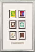 6 Thumbnails in Silver Frame