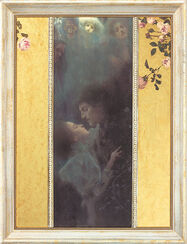 "Painting ""Love"" (1895) in Frame"