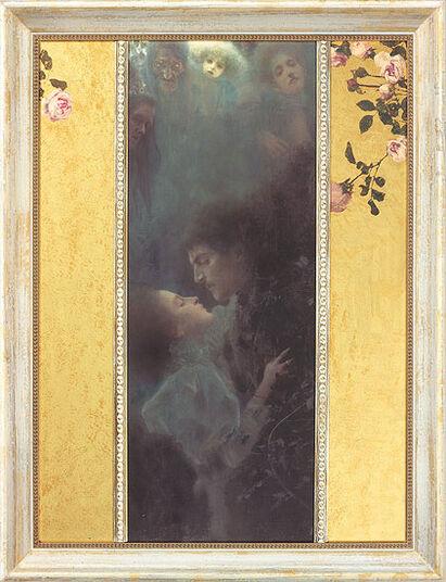 """Gustav Klimt: Painting """"Love"""" (1895) in Frame"""