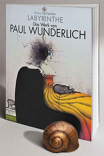 "Hans Holländer: Book ""Labyrinth - the Work of Paul Wunderlich"" - with sculpture ""Snail Shell"""