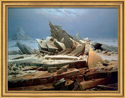 """Picture """"The Sea of Ice"""" (1824) in Studio Framing"""