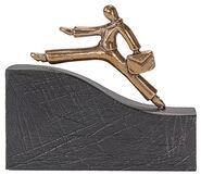 """Skulptur """"Auf dem Weg nach oben"""", Bronze"""