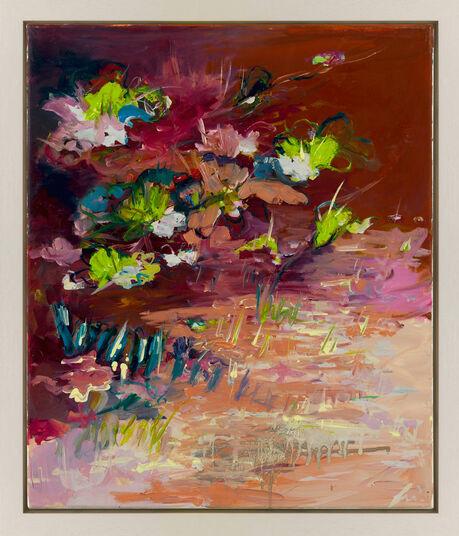 "Silke Weyer: Bild ""Seerosen in Pink"" (2015) (Unikat)"