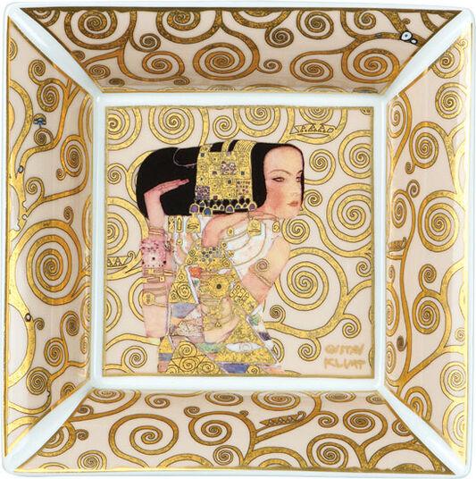"Gustav Klimt: Porcelain dish ""Expectation"" with gold elements"