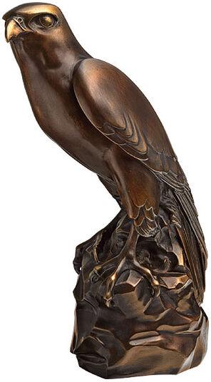 "Thomas Schöne: Sculpture ""Hawk"", Version in Artificial Bronze"
