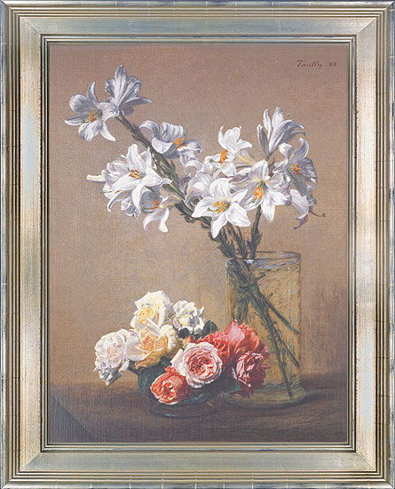 "Picture ""White lilies in a glass vase"""