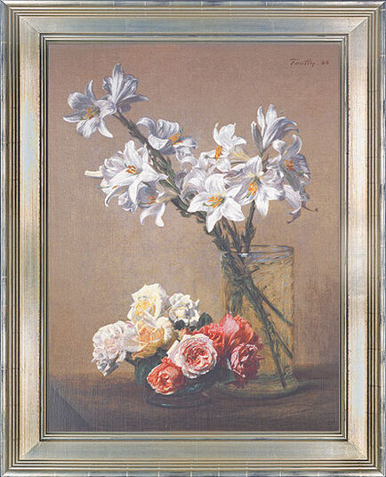 "Henri Fantin-Latour: Picture ""White lilies in a glass vase"""