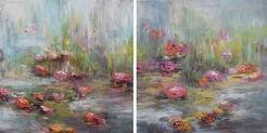 """Diptychon """"Blüten am Fluss VIII A und B"""" (2017) (Unikat)"""