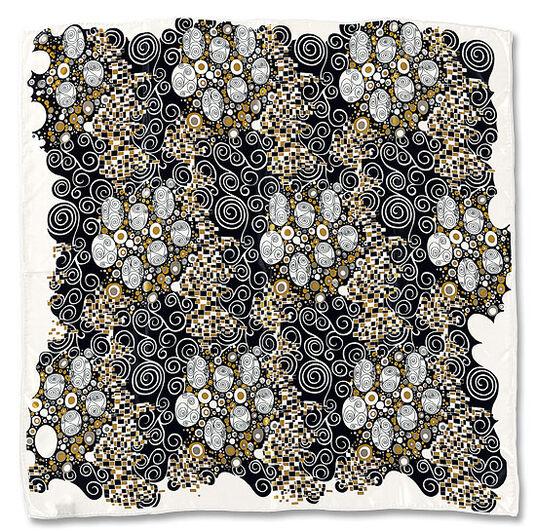 """Silk Scarf """"Viennese Workshop Inspiration"""""""