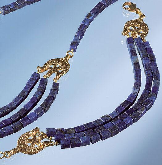 Petra Waszak: Bracelet with Lapis-Cuboids