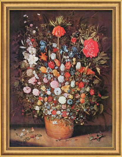 """Jan Brueghel d. Ä.: Bild """"Blumenstrauß"""" (um 1607), gerahmt"""