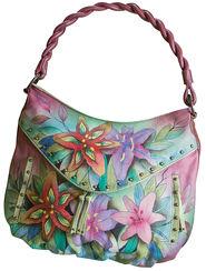 "Handbag ""Lilly"" Anuschka® trademark with extra glasses case/cosmetics bag"